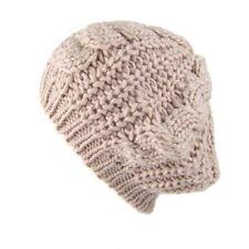 Women Beret Braided Warm Winter Hat Ski Cap Knitted Hat