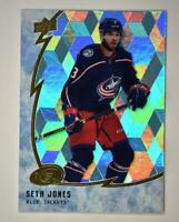 2019-20 ICE Ice Cube Parallel #21 Seth Jones - Columbus Blue Jackets