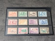 Sarawak George VI Part Set 2 Cents to $1 Used 12 Stamps