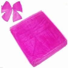 Hot Pink Organza Chair Bows Pack of 6 - X80052