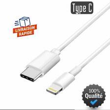Câble Chargeur Rapid USB Type C-8-pin 1m pour iPhone 7/8/X/XS/XR/11/12/Pro