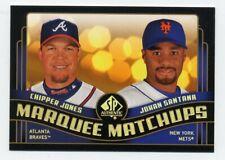 New listing 2008 SP Authentic CHIPPER JONES JOHAN SANTANA Marquee Matchups Atlanta Braves 29