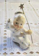 Vintage Porcelain Boy Angel Figurine Japan 1950S-1960S Era