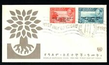 Ethiopia 1959-60 Illustrated Cover with first day issue World Refugee Year