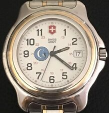 Swiss Army Ronda 5 Jewel Quartz All Stainless Date G Seahorse Mens Watch Working