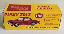 Dinky 185 Alfa Romeo 1900 Super Sprint Empty Repro Box Only