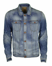 Mens Pearly King Denim Jacket Size Large Distressed Wash