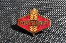 Fortschritt Enamelled Brooch Logo VEB 19x17mm Old + ORIGINAL