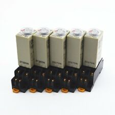 5Pcs H3Y-2 DC 12V Delay Timer Time Relay 0 - 3 Minute with Base
