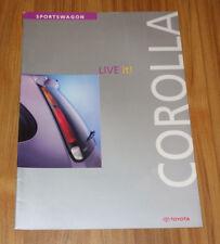 Catalogue TOYOTA COROLLA E11 Sportswagon de 1998