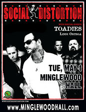 SOCIAL DISTORTION / TOADIES / LINDI ORTEGA 2012 MEMPHIS CONCERT TOUR POSTER