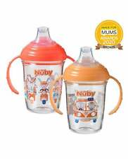 Nuby Day & Night Grip n Sip Cups 4-12 months Twin Pack Drinking Cup Unisex