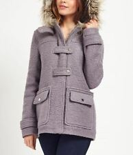 NEW Lipsy London Duffle Wool Coat Jacket Fur Womens Girls Size 10 RRP £100