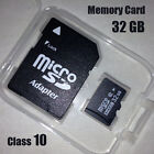 New 32G 32GB Micro SD SDHC TF Flash Memory Card Class10 C10 With Free SD Adapter