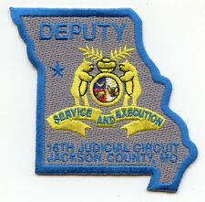 16th JUDICIAL CIRCUIT JACKSON COUNTY MISSOURI MO state shape shaped POLICE PATCH