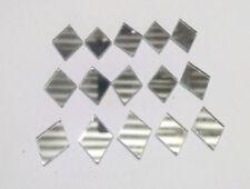 100pc Rectangular Silver Craft Glass Mirror Mosaic Tile Deco Art 15X11 mm  Dress