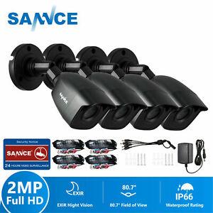 SANNCE 4x HD 1080P CCTV Security Camera Home Surveillance System IR Night Vision