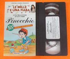 VHS film cartonata PINOCCHIO Le mille e una fiaba CRISTINA D'AVENA (F107) no dvd