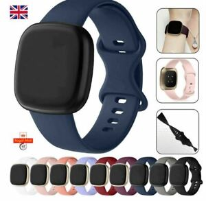 For Fitbit Versa 3 / Sense Silicone Wrist Strap Wristband Replacement Watch Band