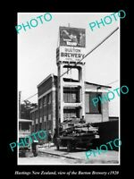 OLD LARGE HISTORIC PHOTO HAMILTON NEW ZEALAND VIEW OF THE BURTON BREWERY c1920