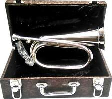 Ferris Professional Bb Silver Plated Brass Tunable Bugle With Mouthpiece