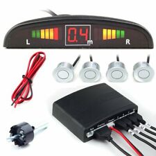 New Car LED Parking Sensor System with 4 Silver sensors Top Quality Auto Part
