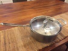 All Clad D5 Brushed 6qt Deep Sauté Pan With Lid