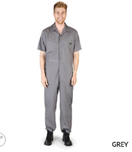Short Sleeve Coverall Jumpsuit Boilersuit Protective Work Gear Tall Sizing