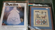 New Lot of 2 Bucilla Stamped Embroidery Cross Stitch Kits Doll Angel/Amish Life