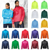 2786 Lightweight Fold Away Polyester Jacket - Unisex Water/Wind Resistant Events