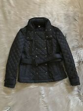 BURBERRY BRIT Women Military Navy Puffer Coat Size M
