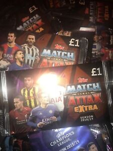 Match Attax Extra  2018/19 18/19 - 100 SEALED PACKETS 7 CARDS PER PACKET