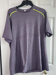 Lululemon Mens Metal Vent Tech Short Sleeve Shirt Workout Purple Sz 2XL