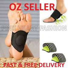 Unisex Cushioned Foot Arch Support Shock Pain Absorber Relief Achy Tired Feet