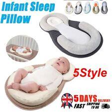 Infant Baby Newborn Pillow Cushion Anti Roll Prevent Flat Head Sleep Nest Pod UK