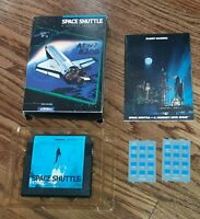 Atari 5200 Space Shuttle video game cartridge CIB box manual overlays COMPLETE