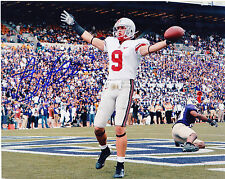 BRIAN HARTLINE  OHIO STATE BUCKEYES  ACTION SIGNED 8x10
