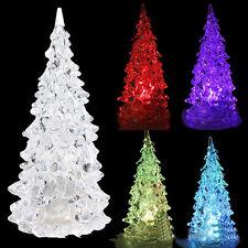 Cristal LED Couleurs Changement Sapin De Noël Lampe Veilleuse Noël Fête Déco