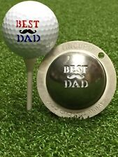 1 only TIN CUP GOLF BALL MARKER - BEST DAD   - YOURS FOR LIFE