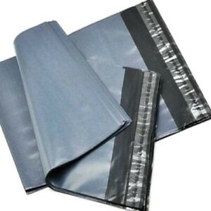 """50 Strong Mailing Bags 12"""" X 16"""" Extra Large Grey Plastic Postage Postal Bags"""