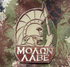 MOLON LABE SPARTAN ARMY 300 GREEK LAMBDA MULTICAM VELCRO® BRAND FASTENER PATCH