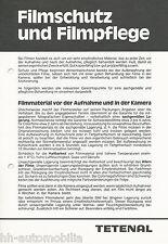 Prospectus tetenal filmschutz filmpflege 80er J. brochure accessoires labo photo