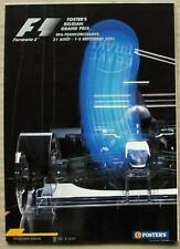 BELGIAN GRAND PRIX FORMULA ONE F1 2001 SPA FRANCORCHAMPS Official Programme
