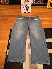 CALVIN KLEIN JEANS RIVITED STRAIGHT LEG W33  USED THRASHED COOL GO READ & SEE''