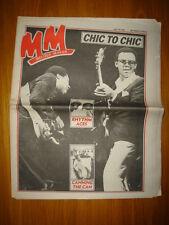 MELODY MAKER 1981 JUL 18 CHIC TO CHIC BLONDIE YOKO ONO