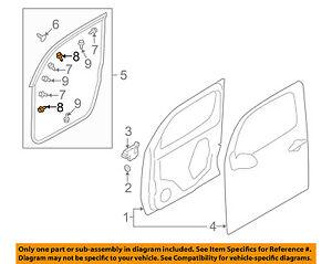 NISSAN OEM 07-12 Versa Front-Door Weather Strip Clip 808508991E