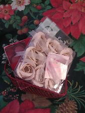 Heart Shape Gift LOVE Basket w/ Heart Tealites & Coasters & Perfume Petal Soaps
