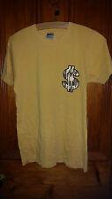 True Vintage con GIALLO Jerzees T Shirt 32 torace invia Slogan