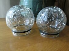 New listing Gigalumi Solar Lawn Light Clear Cracked Glass Globes Lot of 2 Replacement Balls