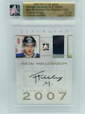 ITG Ultimate Memorabilia First Round Gold Thomas Hickey 01/10 Jersey Auto